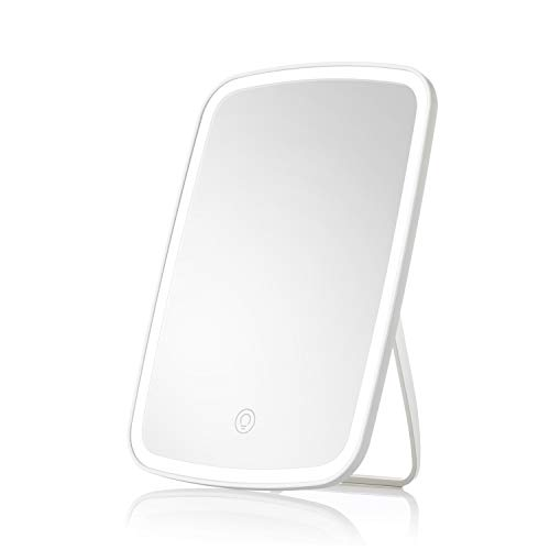 Jordan judy Makeup Mirror Touch Screen Vanity Mirror with LED Brightness Adjustable Portable USB Rechargeable