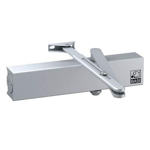 BASI Türschließer BASI TS 200 - silber Türschließer, mit Standardgestänge, Größe 2-5, bis 1.250 mm Flügelbreite, Schließgeschwindigkeit und Endschlag, einstellbar, CE zertifiziert EN 1154.