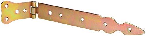 KOTARBAU - Bisagra de puerta de 250 mm, para puerta de coche, colgador de cruz, bisagra de puerta chapada en oro, galvanizada, inoxidable, para puerta de jardín