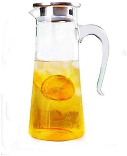 Tetera de cristal Tetera Taza 1,5 L / L Glass caldera del agua grande Outlet jarro de agua impermeable transparente del envase de cristal Hervidor con la tapa de la tetera Jug Adecuado for Juice / té