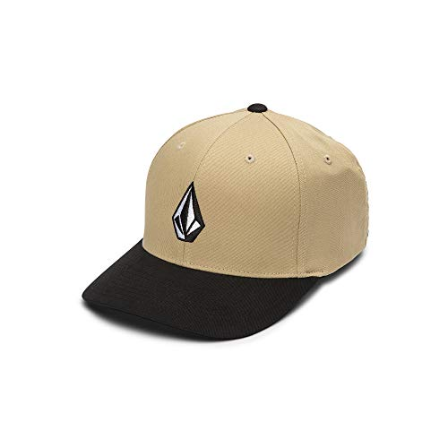 Volcom Herren Full Stone Flexfit Stretch Hat - Beige - Small/Medium