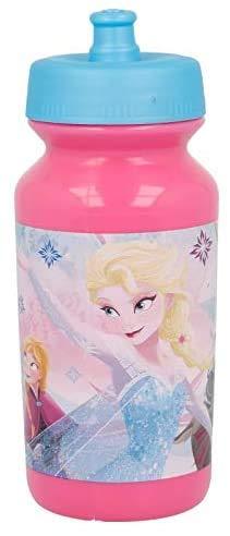 3147; Botella para Agua push-up Disney Frozen; Capacidad 340 ml; Reutilizable; libre de BPA; Ideal para Cualquier ocasión