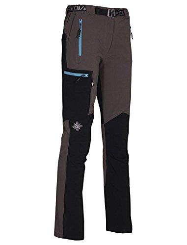 Milo Vino Pantalones, Mujer, Grey/Black, XL