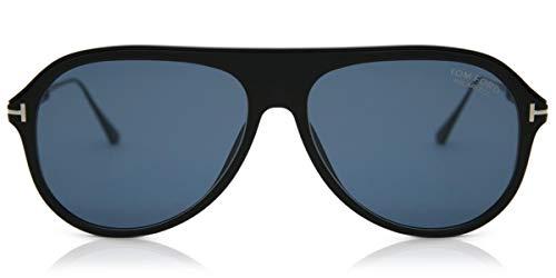 Tom Ford Nicholai TF 624 02D Matte Black Plastic Sunglasses Grey Polarized Lens,...