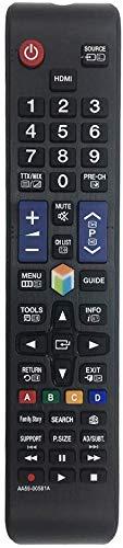 MYHGRC AA59-00581A Telecomando Samsung sostitutivo adatto per Samsung smart tv: nessuna impostazione richiesta TV Telecomando TV UE50ES6300U UE55ES6140W UE55ES6300S UE55ES6300U UE55ES6305U UE55ES6307U