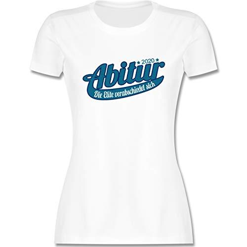 Abi & Abschluss - Abitur 2020 Die Elite verabschiedet Sich - M - Weiß - Shirt Abitur 2019 - L191 - Tailliertes Tshirt für Damen und Frauen T-Shirt