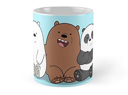 Blade South Mug - We Bare Bears Cartoon - Baby Bear Cubs - Grizz, Panda, Ice Bear Mug - 11oz Mug - Made from Ceramic - Best gift for family friends