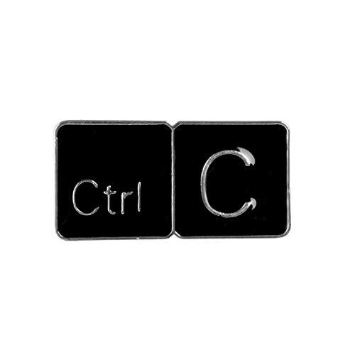 Aqiong KAERMA Meme Ctrl C/Z-toetsenbord emaille pen kopiëren return keys tabletten broches cadeau-speel-symbool-denim jeans-embleem knop emaille spelden decoratieve accessoires