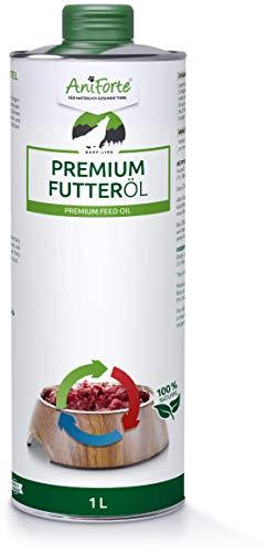 AniForte Barf Futteröl für Hunde 1L - kaltgepresstes Premium Barf Öl, idealer Barf Zusatz fürs Futter, Hochwertiges Basisöl, Natürlich, Artgerecht & Ausgewogen, Recyclebare Verpackung ohne BPA