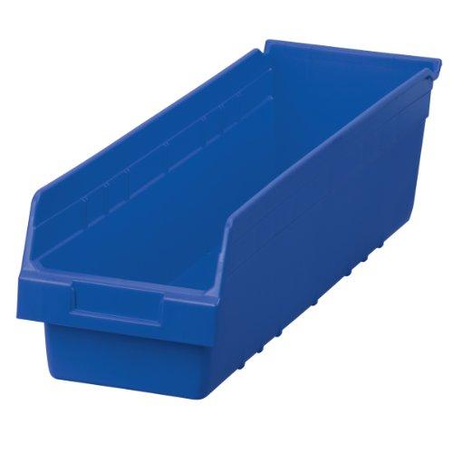 akro-mils 30094 shelfmax kunststof afvalemmer box rek nestkast, 24 l van 6,5 W van 6 H, blauw, geval 10