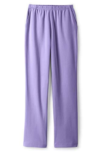 Lands' End Women s Sport Knit Pants Lavender Cloud Regular Large