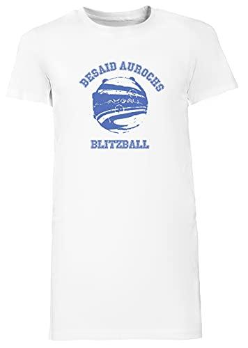 Besaid Aurochs Blitzball Largo Camiseta Vestir Mujer Blanco Women's Long tee Dress White