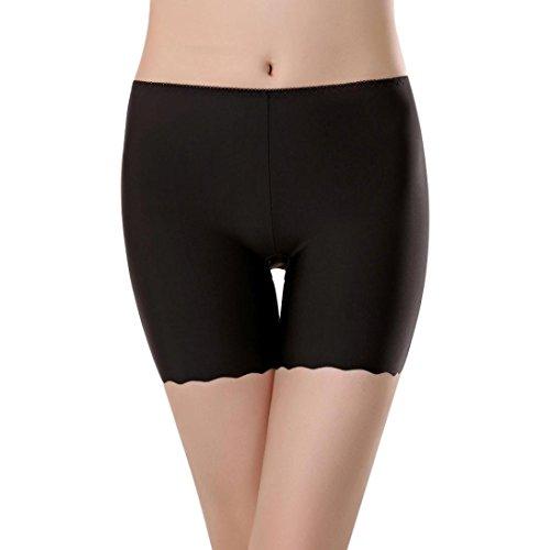 SHOBDW Las Mujeres de Encaje Faldas escalonadas Falda Corta bajo Pantalones de Seguridad Ropa Interior (M, Negro)