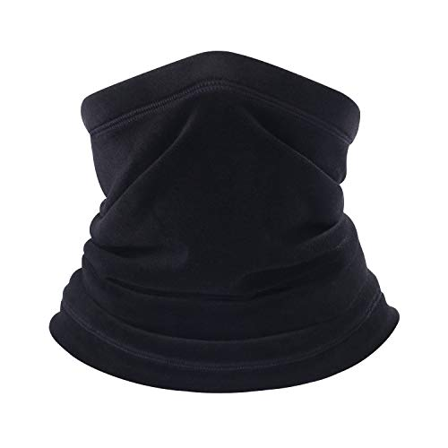 B BINMEFVN Polar Fleece Neck Warmer - Windproof Winter Neck Gaiter Cold Weather Face Mask for Men Women - 1 or 2 Pack