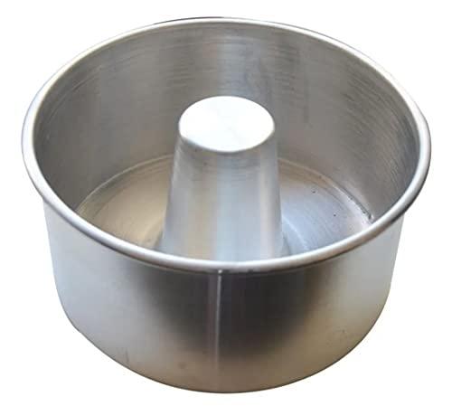 Forma Para Bolo Caseiro/Vulcão/Pudim Reta 20x10cm em Alumínio