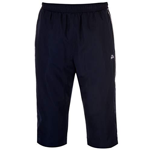 Lonsdale Herren 2 Stripe Shorts Hose 3/4 Sporthose Training Marinefarbe XL