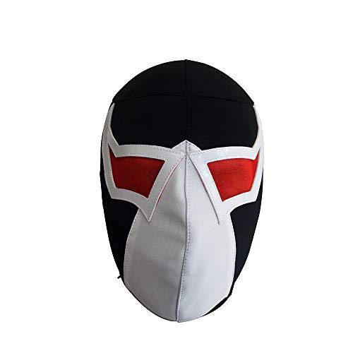 Bane Supervillian Batman Luchador Maske Erwachsene Größe Lucha Erwachsene Mexikanische Wrestling Kostüm Wear Pro-Fit Lycra Maske Mascara de Luchador Ideal für Cosplay