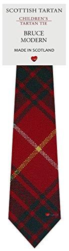 I Luv Ltd Garçon Tout Cravate en Laine Tissé et Fabriqué en Ecosse à Bruce Modern Tartan