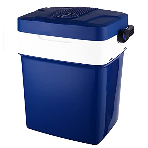 Kühlbox Auto Kühlbox 12V 230V, Kühlbox Elektrisch Auto Kühlschrank, Kühltasche 29L Elektrisch Kühlboxen Elektrische Kühlbox Auto und Steckdose, Thermoelektrische Kühlbox Auto 12V AC/DC (MEHRWEG)