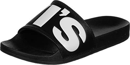 Levi's Damen June L S Slides, Black, 38 EU