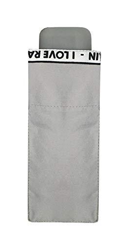 Preisvergleich Produktbild SMATI Mini Taschenschirm - Stabil - kompakte - windproo(I Love RAIN)