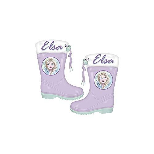 NEU Disney Die Eiskönigin Kindergummistiefel Gummistiefel Kinderschuhe Regenstiefel Frozen Anna Elsa (28)