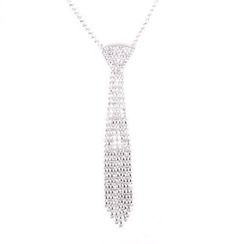 Kristall Quasten Strass Krawatte Halskette Hochzeit Bridal Jewelry Prom