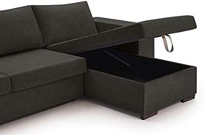 Kasalinea - Sofá de 2 plazas Convertible, Color Negro y ...