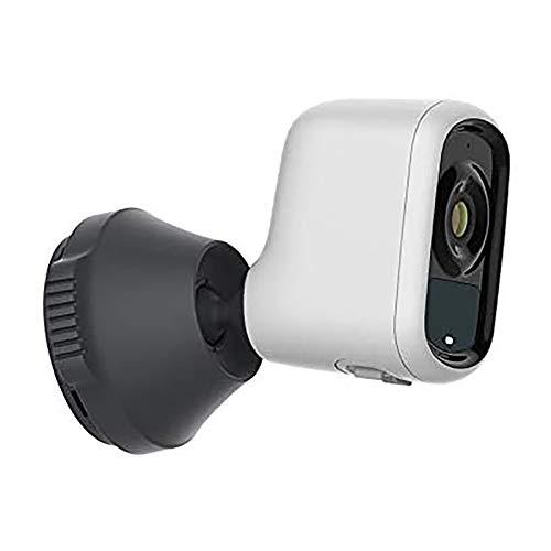 RTDotey Cámara De La Cinta De La Cámara De La Batería Inteligente 1080P Cámara De Vigilancia Libre De Alambre con Clima Interior Alarma De Prensa Exterior,Blanco