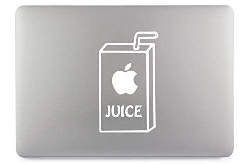 Apple Juice Apfel Saft Aufkleber Laptop Sticker Folie geeignet für alle neuen und Alten Apple MacBook Modelle (11 Zoll, 12 Zoll, 13 Zoll, 15 Zoll, 16 Zoll, 17 Zoll)