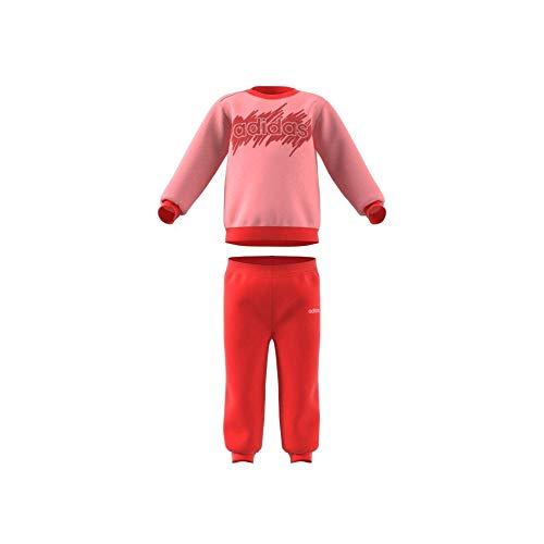 adidas I Lin Jogg FT Chándal, Unisex bebé, rosglo/Roalre, 68 (3/6 Meses)
