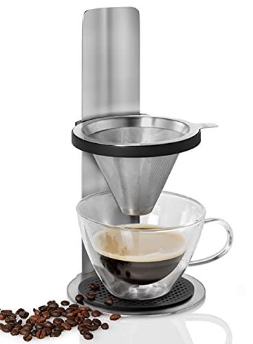 AdHoc MC20 Kaffeebereiter MR. BREW, Permanent-Filter ohne Papier, Edelstahl/Kunststoff