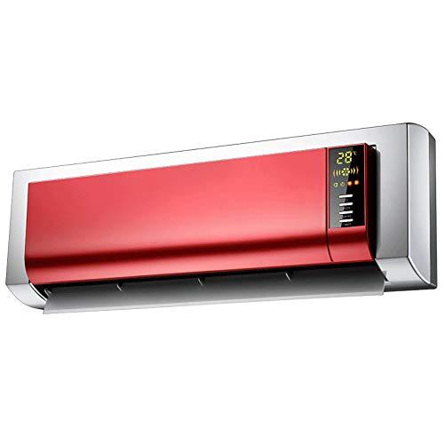LHA Radiateur électrique Radiateur électrique Télécommande Écran LCD numérique PTC Ceramic Heating 2000W Rouge