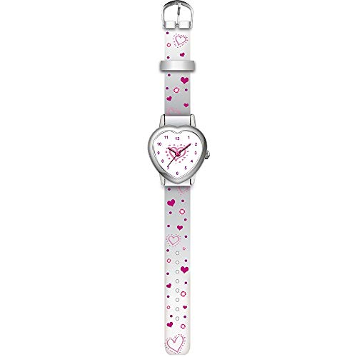 KIDS WATCH 4993007 Armbanduhr, weisses Herz