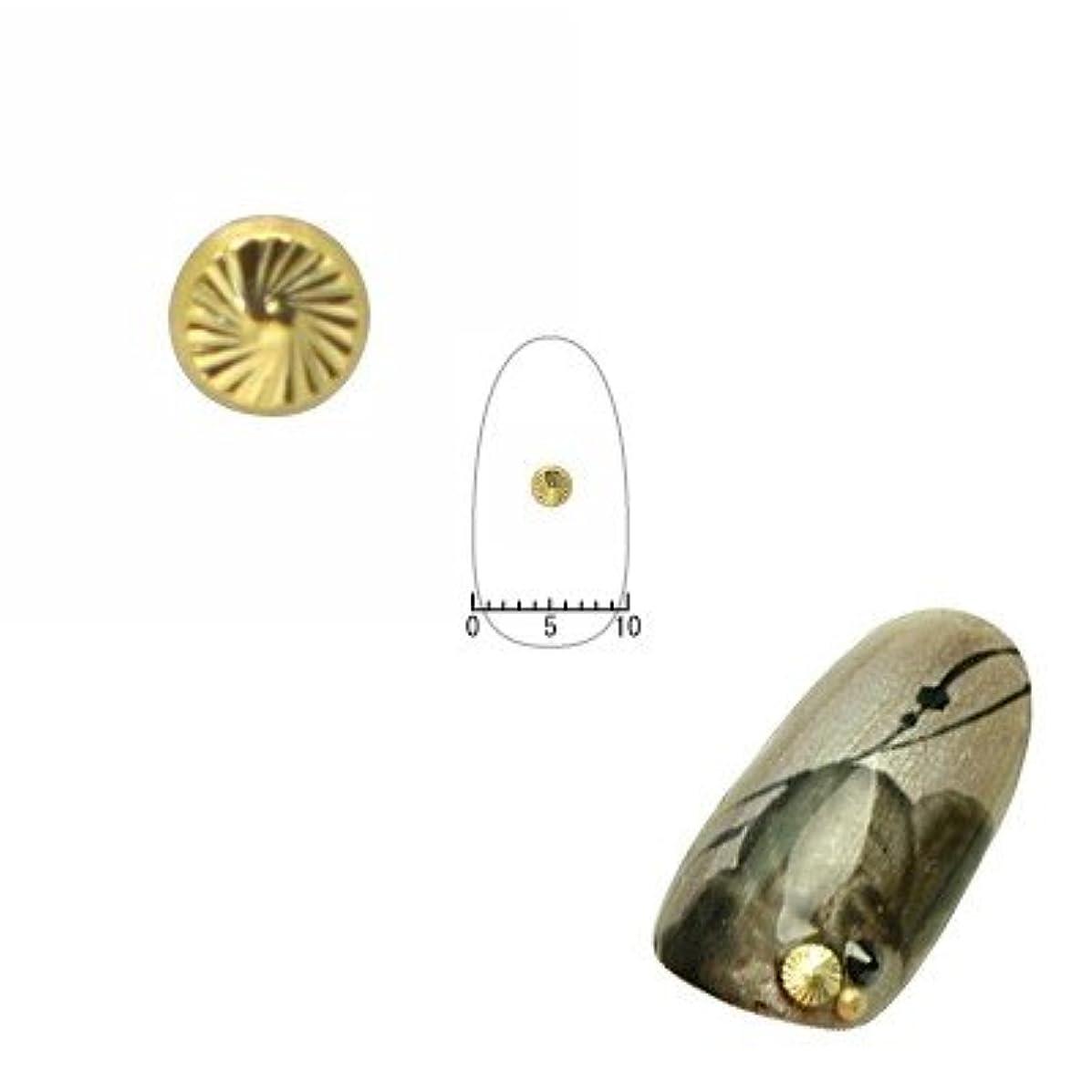 古風な日付付き忠実ピアドラ ネイルパーツ サンシャインスタッズ ゴールド 2.8mm 20P