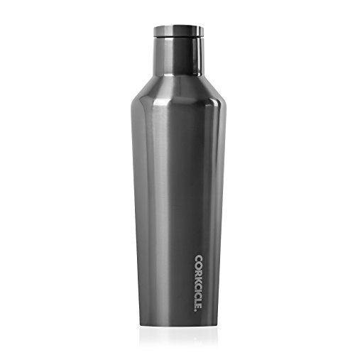 Corkcicle Canteen - Water Bottle & Thermos - Triple Insulated Stainless Steel, 25 oz, Gunmetal