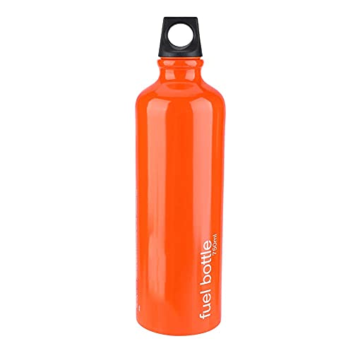 Fuel Bottle, 750ML Aluminum Alloy Gas Fuel Storage Tank, Emergency Petrol Storage Can for Camping Picnic Hiking