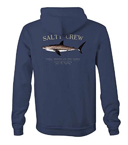 Salty Crew Bruce Veste polaire à capuche pour homme - bleu marine - Large