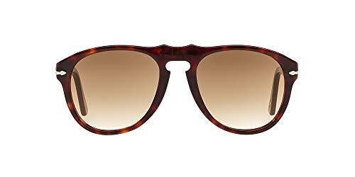 Persol MOD. 0649 Sun Occhiali da Sole, Unisex Adulto, Marrone (Dark Brown Faded), 54