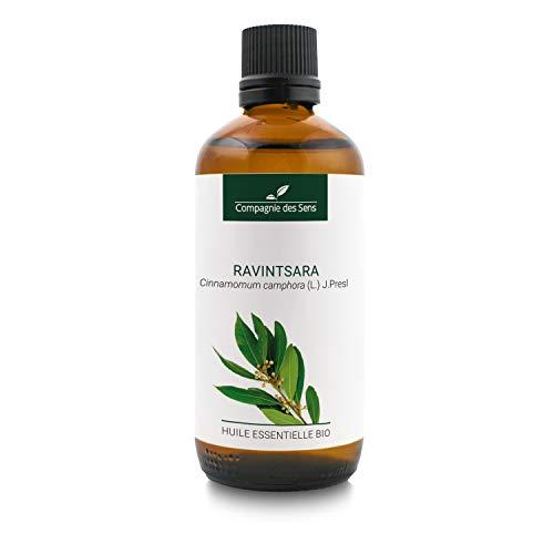 RAVINTSARA BIO - 100mL - Huile Essentielle de qualité Premium - 100% Pure, naturelle, intégrale - Renforcement de...