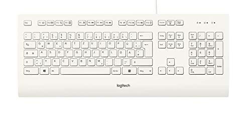 Logitech K280e Tastatur (Kabelgeb&en, QWERTZ, Deutsche Layout) weiß (5-Pack)