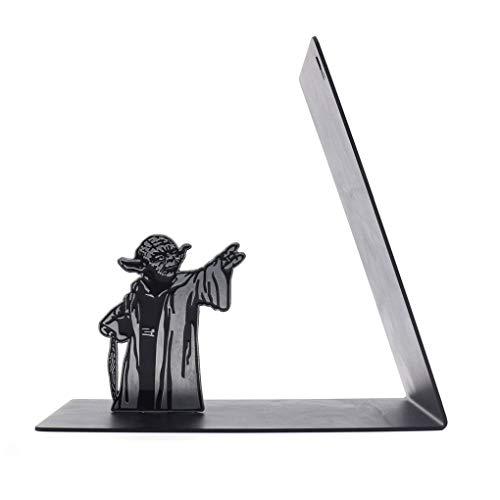 GRFH Sujetalibros de Metal Star Wars Master Yoda Estantería Yoda The Force Regalo Creativo Sujetalibros de Metal Resistente El Regalo Ideal para los fanáticos de Star Wars