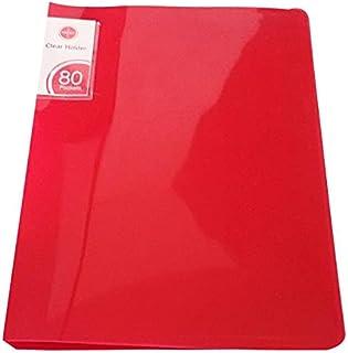 حامل شفاف من ساسكو - 80 جيب، أحمر
