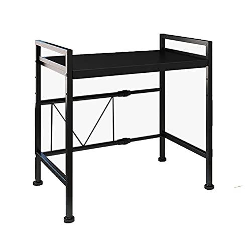 Coriver Rejilla extensible para horno de microondas, altura ajustable, soporte para horno de microondas con 3 ganchos para colgar, organizador de almacenamiento de cocina, capacidad de carga de 50 kg