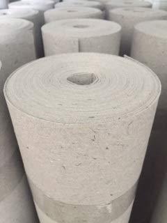 Rohfilzpappe, Abdeckpappe, Rolle aus zu 100% recycelten Material, Rieselschutz, Bodenschutz, Unterlage, Dämmmaterial (250 g/qm²)
