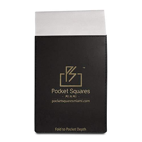 Black Jacob Alexander Mens Pre-Folded Puff Pocket Square Handkerchief