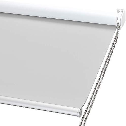 Arcoiris Estor Translucido Metal Premium A Medida, Anchos de 60 a 180cm, Permite Paso de luz, Guarda tu intimidad. Estores enrollables translucidos para Ventanas y Puertas (120 x 200 cm, Gris)