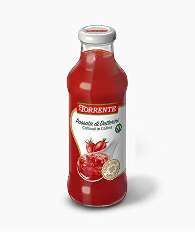 6x La Torrente Passata di Datterini coltivati in collina Tomaten Kirschtomaten in den Hügeln gewachsen Tomatensauce aus Italien 435g