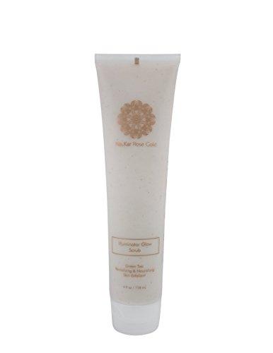 Na.Kar Rose Gold Luxury Collection Illuminator Glow Scrub - Hydrating & Exfoliating Scrub - Paraben & Sulfate Free Face Scrub - Gentle Facial Scrub