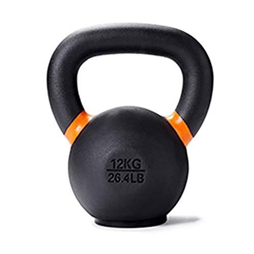 Kettlebell AGYH Nero Ghisa, Gomma Base, 4 kg / 8 kg / 12kg / 16kg Domestica di Ginnastica Forza Muscolare Attrezzi (Size : 8KG/17.6LB)